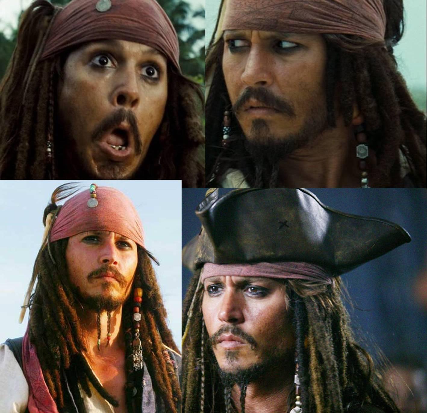 Jack sparrow faces