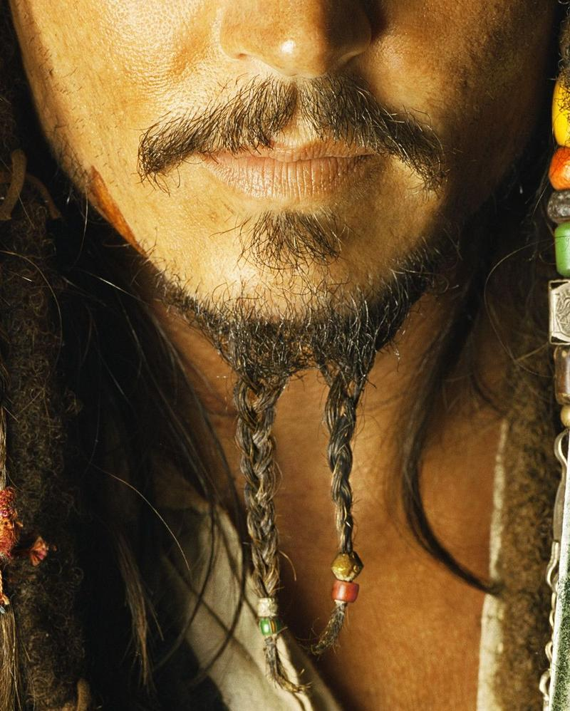 Fake Black Jack Sparrow Tash Beard Moustache Fake Self Adhesive Stick On Tash